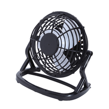 4 inch USB Gadgets Portable Mini USB Fan PC Laptop USB Powered Cooling PC Desk Computer Summer Fan for Home Office Desktop(China)