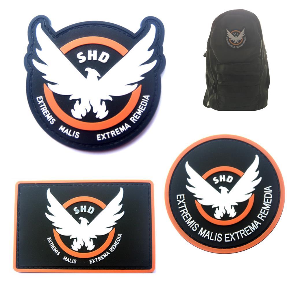 Condor Emblem PVC Patch NEW Hook and Loop Black