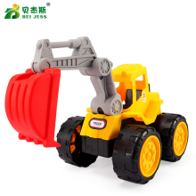 BEI JESS Engineering car Diecast model Excavator Dump truck vehicles Toy Educational Gifts the Child
