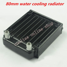 80mm water cooling radiator for computer Chip CPU GPU VGA RAM Laser cooling cooler Aluminum Heat Exchanger(China)
