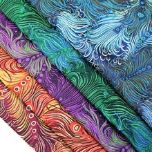 1 Meter Width 75cm High-grade Tapestry of Emulation Silk Fabrics Diy Cheongsam Brocade Fabric Peacock Jacquard Clothes Fabric