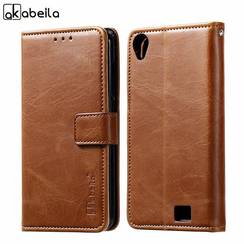 AKABEILA Flip PU Leather Phone Cases Doogee Homtom HT16 5.0 Inch Case Cover Wallet Bags Card Slot Housing Homtom HT16
