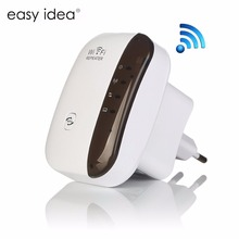 Wireless WiFi Repeater 300Mbps Signal Amplifier 802.11N/B/G Wps Encryption Network Antenna Wifi Extender(China)