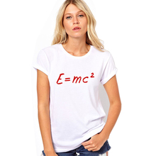 Big Bang theory of evolution Einstein mass energy equation E = mc ^ 2 Printed women's brand T Shirt Tshirt tops tees S-4XL(China)