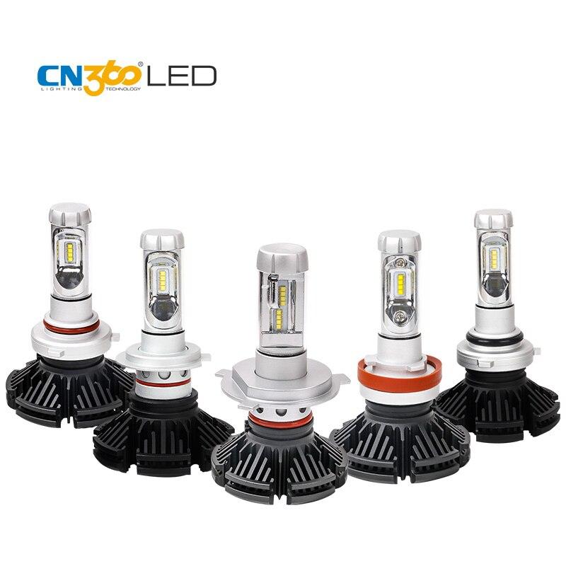 CN360 2PCS For 2nd GEN ZES Chip Car H4 H7 H8 H9 H11 9005 HB3 9006 HB4 LED Headlight Conversion Kit Hi-Lo Beam FogLight 6000LM<br>