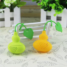 New Arrival Creative Calabash Tea Infuser Diffuser Loose Leaf Chain Strainer Spice Filter