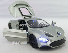 new caibo 1:32 ZENVO ST1 Pull Back Acousto-optic Toys Classic Alloy Antique Car Model Wholesale
