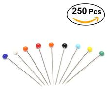 250pcs Glass Pearlized Head Pins Multicolor Sewing Pin for DIY Sewing Crafts sewing accessory
