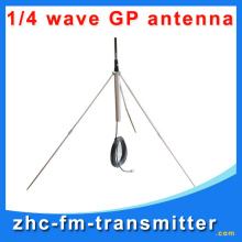 Free Shipping 1/4 wave GP fm broadcast antenna BNC cble for fm transmitter fm radio