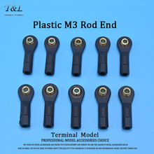 10 pcs / lot M3 Plastic Rod End Ball Head Buckle / The Rod Head / Connecting Rod Head with Pedestal Ball(China)