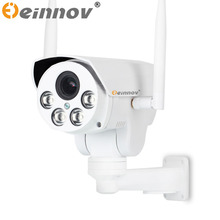 EINNOV 1080P 2MP 4G 3G PTZ IP camera 4X zoom CCTV Video Waterproof outdoor  IP camera IR Night Vision security CCTV audio camera