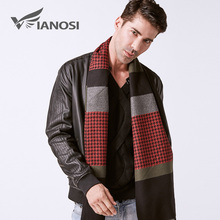 VIANOSI Fashion Design Cotton Scarf Men Winter Warm Wraps High Quality Brand Scarves Man VA249