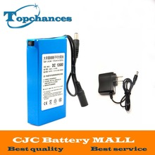 DC12680 Protable 6800mAh for DC 12V Super Rechargeable switch Lithium-ion Battery Pack US/EU Plug For Cameras camcorders