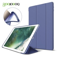 Case For iPad Air 2/ Air 1 Silicone Magnetic Case for iPad Air Smart Cover Soft TPU Case PU Leather Flip Stand Auto Sleep/Wake(China)