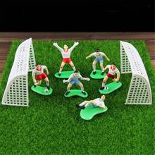 8Pcs/set Soccer Football Cake Topper Player Decoration Tool Birthday Party Cake Decorating Mold Event Party Supplies