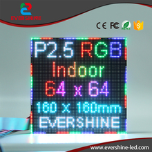 P2.5 Indoor rgb full color video hd led display module factory price(China)