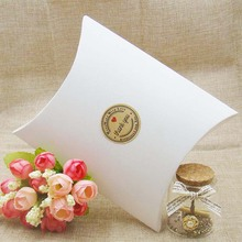 50Pieces/lot Kraft/white/black Pillow Shape Wedding Favor Gift Box Party Candy Box Wholesales Pillow boxes