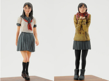 Unpainted Kit 1/35  College girl high 5cm  dy 1/35  figure Historical WWII Figure Resin  Kit Free Shipping
