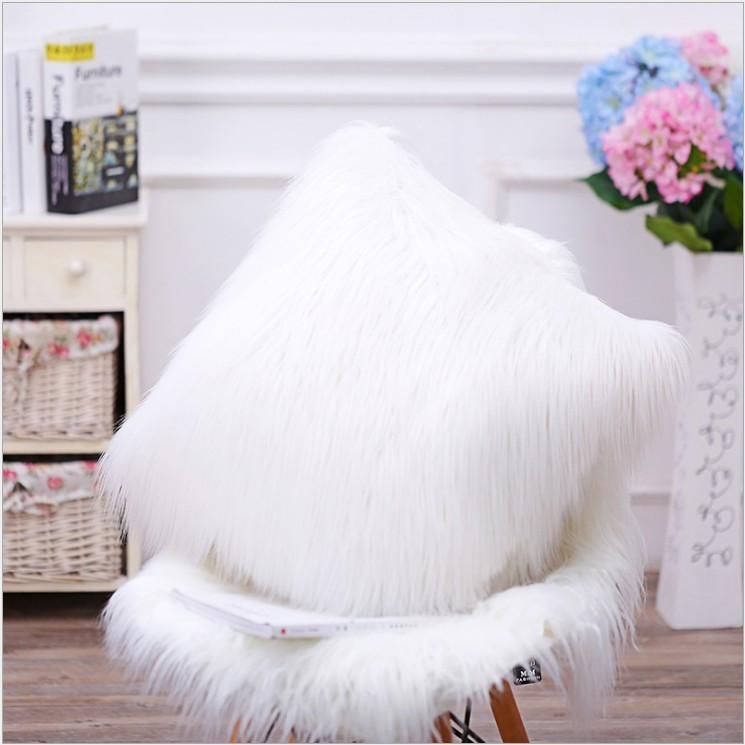 """Double Sided Fur Pillow Cover 17""""x17"""""""
