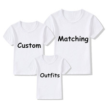 Custom Family Matching Outfits T-shirts DIY Print Your Design T-shirts Boys/Girls DIY Tee Shirts Printing,Contact Seller Frist(China)