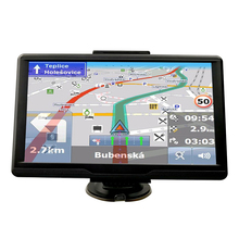 Luturadar 7 inch HD GPS Navigation windows CE 6.0 FM transmitter MTK portable Car truck GPS navigator with bluetooth Europe Map(China)