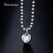 NEWBARK Fashion Jewelry Crystal Necklaces Silver Color Titanic Heart Pendant Ocean Love Necklace For Best Friends Birthday Gifts(China)