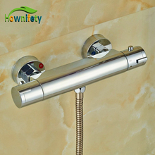 Chrome Polish Thermostatic Mixer Body Wall Mounted Brass Shower Fittings Shower Faucet Accessory(China)