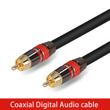 High Quality Stereo Digital Coaxial Audio Video RCA Cable speaker cable Hifi Subwoofer cable AV TV cables(China)