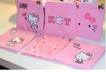 (10 Pcs/Lot) Kawaii Hello Kitty Cotton Zipper Travel Small Bow Zipper Storage Bag 6 Color Option(China)