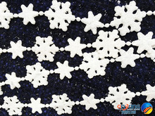 Christmas ornaments window decoration decorative snow and ice effect scene Acrylic snowflake string 1.8 meters