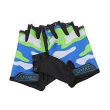 OUTERDO 1 Pair Silicone Anti-Slip Cycling Kids Gloves Comfortable Half Finger Outdoor Sport MTB Bike Gloves Bicycle Equipment