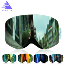 VECTOR Brand Ski Goggles Men Women Double Lens UV400 Anti-fog Snowboard Skiing Glasses Big Mask Snow Eyewear(China)