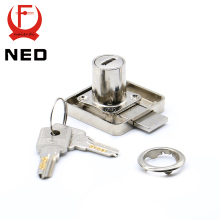 12PCS NED 138 Series Copper Lock Core Furniture Drawer Locks Cabinet 19mm Diameter With Computer Keys For Furniture Hardware