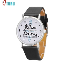 Watch OTOKY Willby Follow Your Dreams Watch PU Leather Quartz Watches 161213 Drop Shipping