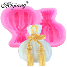 Mujiang 3D Baby Gift Bags Silicone Soap Molds Resin Clay Candle Mold Party Cake Decorating Tools Jelly Chocolate Candy Moulds