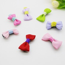 5Pcs/lot 2017 hair accessories hair bows Hairpin baby hair clip children headband Solid hairgrips for girls 7 Colors Mixing(China)