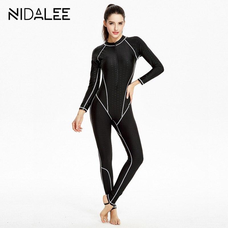 FullBody Dive Skin Jump Suit Wimming Wetsuits dive suit women windsurf suits Diving Suit Swimwear One Piece Long Sleeve Swimsuit<br>