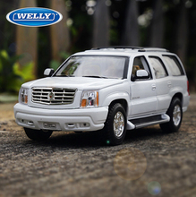 Brand New WELLY 1/24 Scale Car Model Toys Cadillac ESCALADE Diecast Metal Car Model Toy For Collection/Gift/Decoration