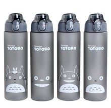 Cartoon Totoro Water Bottle 500ml/700ml Portable Sports Camping Cycling Juice Plastic Drinkware My Water Bottle Shaker BPA Free