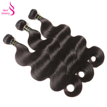 "Real Beauty Brazilian Virgin Hair Body Wave 12""-24"" 100% Human Hair Weaving Bundles Natural Color Hair Extensions Free Shipping(China)"