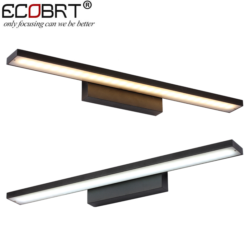 EGOBOO 8w 40cm long black Aluminum bathroom led mirror light for home indoor lllumination lighting lamp<br>