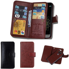 Multifuction Mobile Phone Bag For LG G5 Case Magnetic 2 in 1 Removable Leather Wallet Case For LG G3&For LG G4 Case 9 Card Slots(China)