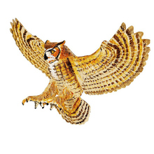 Original genuine wild life animal birds Hawk Owl figures collectible figurine children educational toys(China)