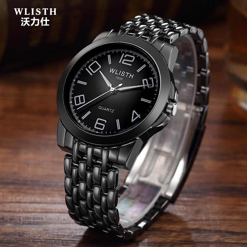 2018 Новые черные мужские сто башня модные мужские часы кварцевые часы  бренда водонепроницаемые часы-браслет 07e0bd18da0ff
