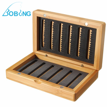 Bobing 14*8.5*3cm Vintage Bamboo Products Lure Baits Hook Fly Fishing Tackle Box Storage Case(China)
