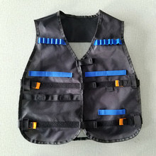 Outdoor Games Tactical Vest Kids Toy Gun Clip Jacket Foam Bullet Holder Tops Fit for Nerf Elite Team Waistcoats CS Outdoor #H917(China)