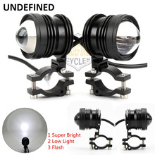Motorbike Accessories 12V CNC LED Driving Spot Spotlight Flash Head Light For BMW Harley Yamaha Kawasaki UNDEFINED(China)