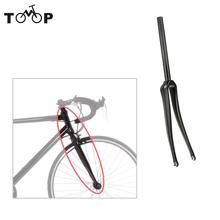 Ultralight   Bike Front Fork Full Carbon Fiber Road Bicycle Fork 700C Cycling Fixed Gear Bike Fork Fixie Bike Fork 28.6mm