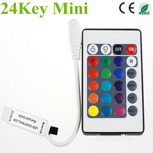 Mini 24key LED Controller RGB Color With IR Remote Control Mini Dimmer for 5050 / 3528 Led Strip Lights 12V