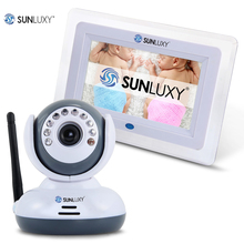 SUNLUXY 2.4GHz Digital Wireless Baby Camera 7 inch TFT Color LCD Video Baby Monitor TV Out IR Night Vision Two-Way Talk Music